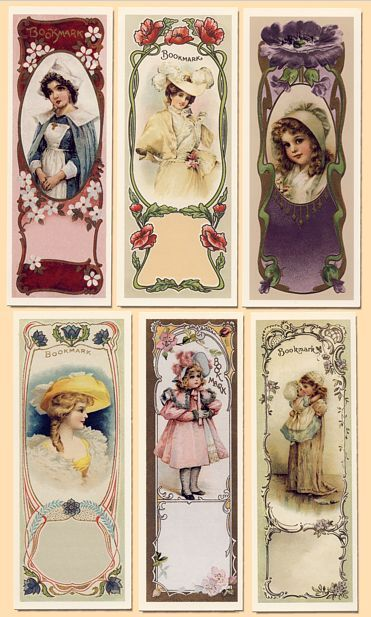 Victorian Bookmark replicas by the Victorian Gallery Burlington USA