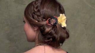 Romantic Vintage Updo, via YouTube.: Hair Ideas, Braids Hairstyles, Romantic Vintage, Gorgeous Hairstyles, Vintage Updo, Hair Style, Wedding Hairstyles