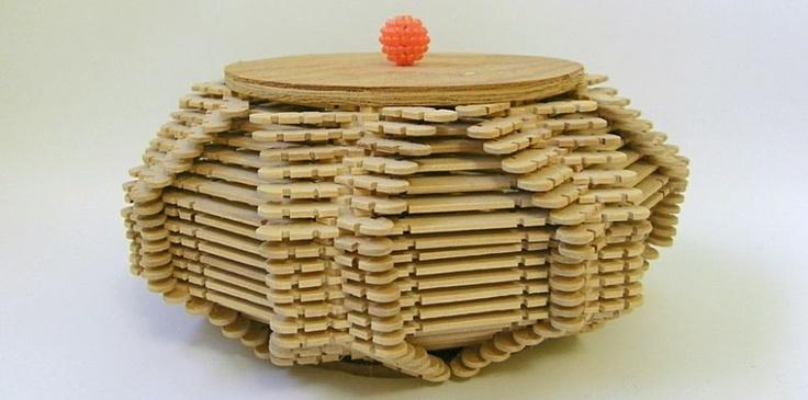 how to make ice cream stick basket