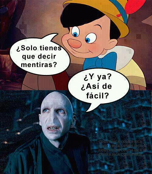 Pinocho y Voldemort