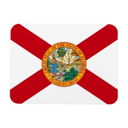 #Patriotic flexible magnet with Florida flag - #trendy #gifts #template