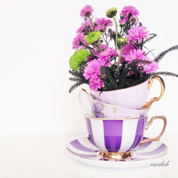 purple teacups