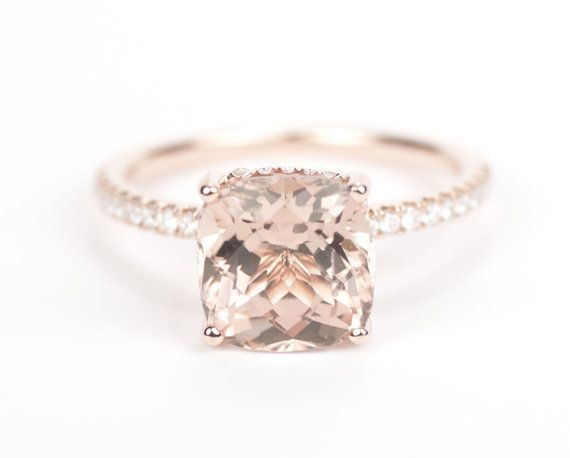 peach engagement rings - Google Search