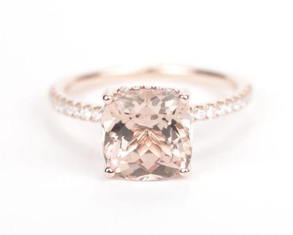 SALE   Champagne Tourmaline Diamond Ring 14K Rose by SundariGems, $1264.00