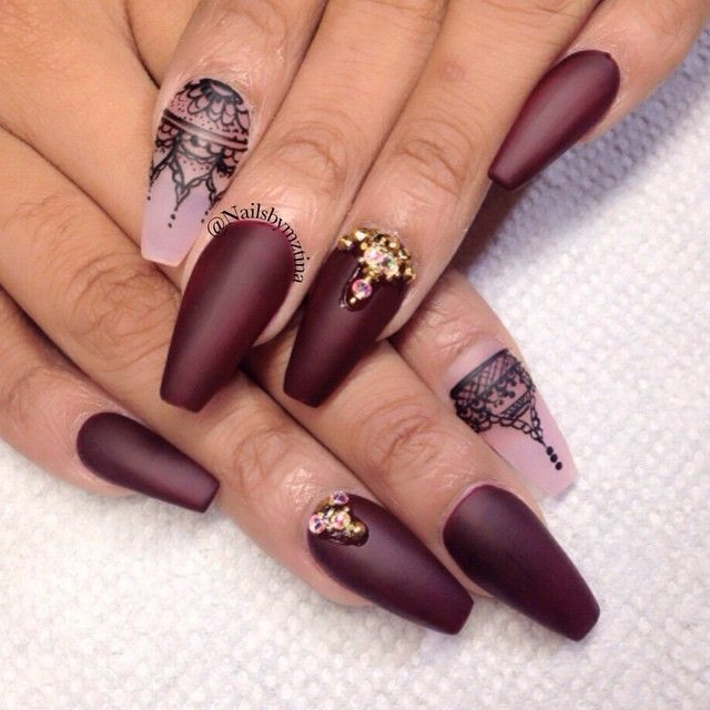 Best 25 burgundy nail designs ideas on pinterest burgundy matte 42 fabulous burgundy nail designs for 2015 prinsesfo Choice Image