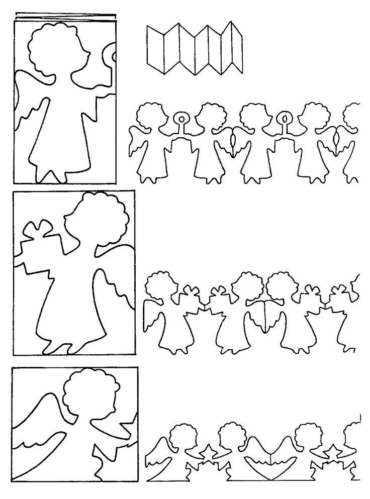DIY; Cut a Fancy Cute Garland of ANGELS to Decorate your Home/Hallway/window/classroom for Christmas :-D DIY; Maak een vrolijke en schattige vlaggetjeslijn van Engeltjes om je huis/klas/raam/kamer mee te versieren. From www.kerst.crea-kids.nl