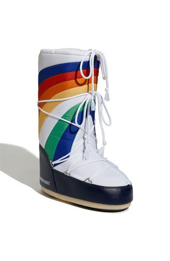 Hello, 1980's!  Moon Boots.  And now they are selling them again.