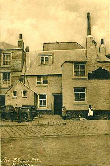 St Ives Sloop Inn 9 - OLD PHOTOS OF ST IVES CORNWALL