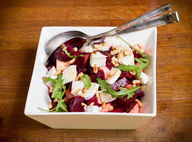 Recept; Bietensalade met geitenkaas