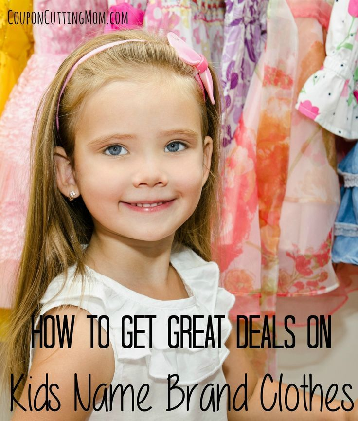 How To Get Great Deals On Kids Name Brand Clothes by Coupon Cutting Mom