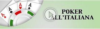 Il poker all'italiana su Sisal.it online e in modalità cash game