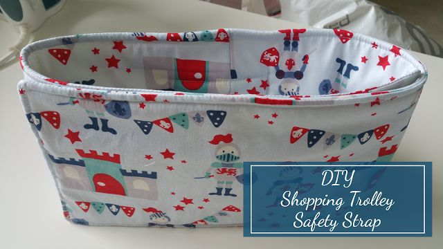 Sewing tutorial to create a safety strap for use in a chair or shopping cart. Perfect for keeping toddlers snug and safe.