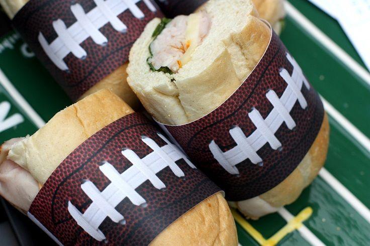 Super Bowl Sandwich Wrap #SuperBowl #football