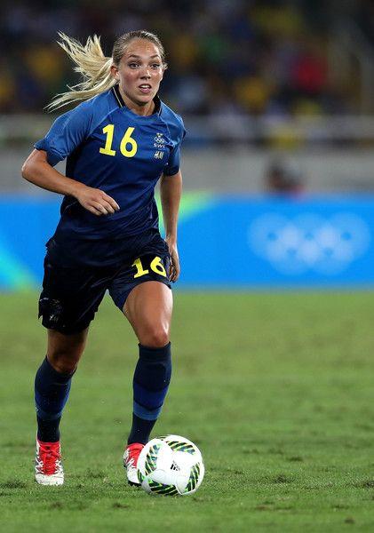Elin Rubensson in Brazil v Sweden: Women's Football - Olympics ...