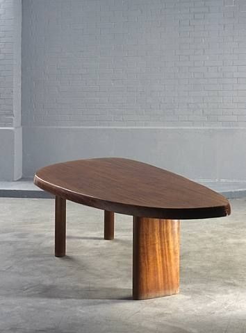 Charlotte Perriand, Mahogany Free Form Table; free form table, beautifull and very expressive.