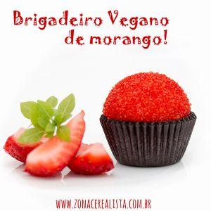 BRIGADEIRO VEGANO DE MORANGO
