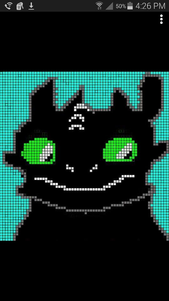 Crochet Toothless Graph. Crochet ToothlessPixel ArtCrochet ...