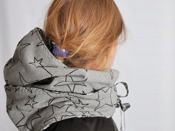 Выкройка объемного шарфа-капюшона / Головные уборы / ВТОРАЯ УЛИЦА