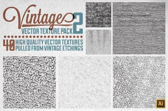 Vintage Vector Texture Pack 2 by Matt Borchert on @creativemarket