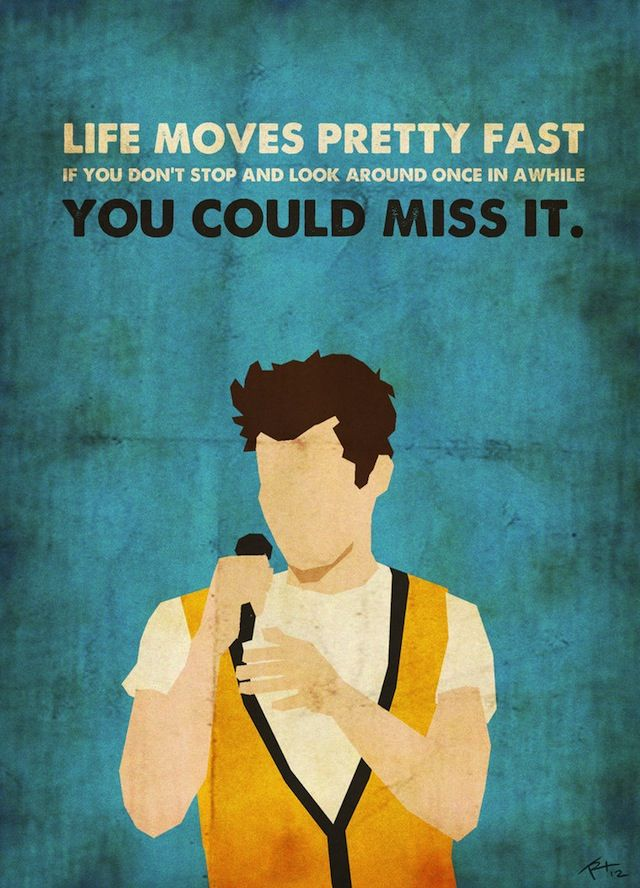 Ferris Bueller ... just one sweet graphic in a series of 80's posters by Trevor Robertson.
