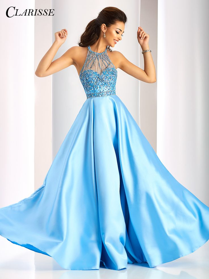 Clarisse Periwinkle Ball Gown 3205. Light Blue princess prom dress. | Promgirl.net