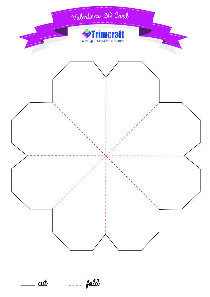 Free Popping Heart Card Template   wwwtrimcraftuk/articles