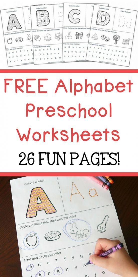 Free Alphabet Preschool Printable Worksheets to Learn the Alphabet … – #WorksheetFun #WorksheetGame #WorksheetMoney