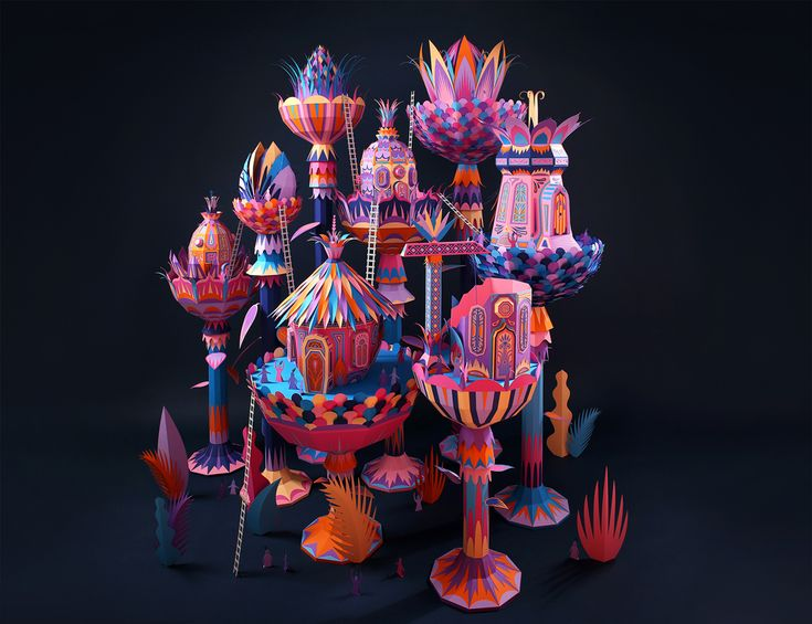 Zim & Zou's Whimsical Wonderland is a Feast for the Eyes. #paperart #papercraft #Zim&Zou