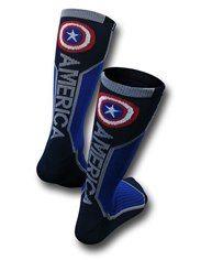 Captain America Text Active Crew Socks