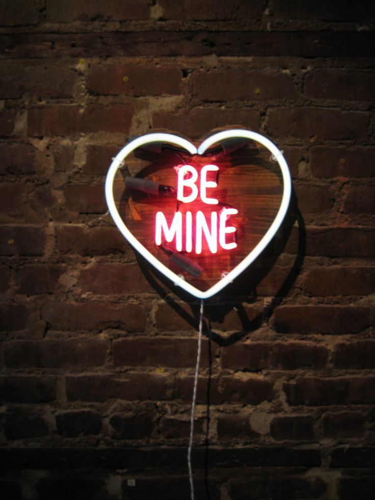 BE MINE Neon Sign Ready-made by MarcusConradPoston on Etsy. Neon Art//Neon LOVE!!
