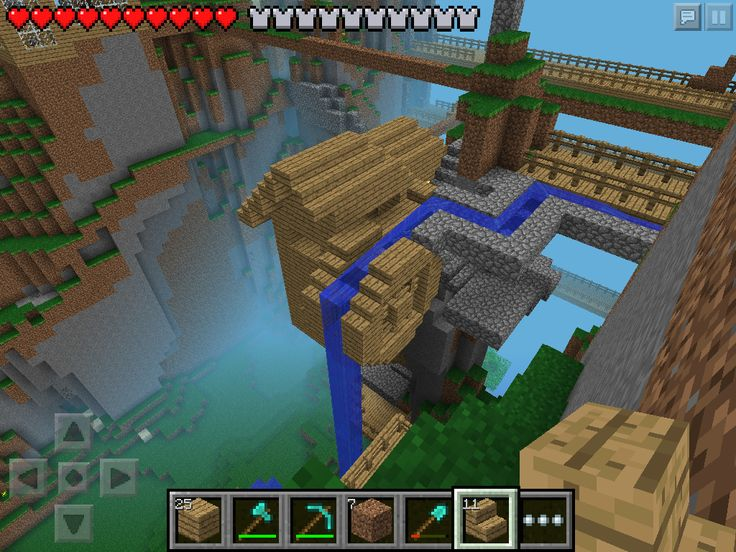 W2 Small Cliff Mill Minecraft Pe Minecraft Pinterest Minecraft Minecraft Pe And I Want To
