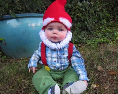disfraz casero beb de gnomo