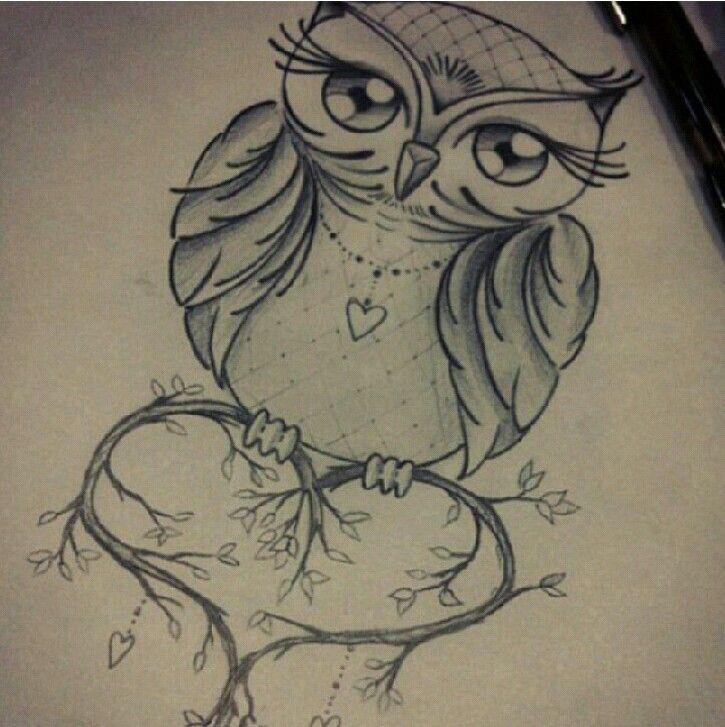 simple girly owl tattoos - Google Search