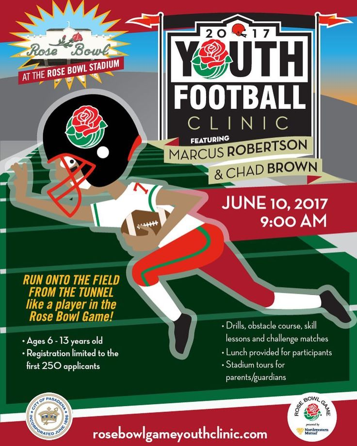 "69 Likes, 2 Comments - Rose Bowl Game (@rosebowlgame) on Instagram: ""We'll be holding our annual youth clinic on June 10. The clinic, held at Rose Bowl Stadium, is free…"""