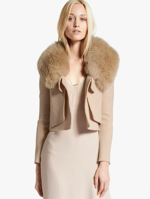 Halston Heritage Fur Collar Coat. Get ahead of next year's trend
