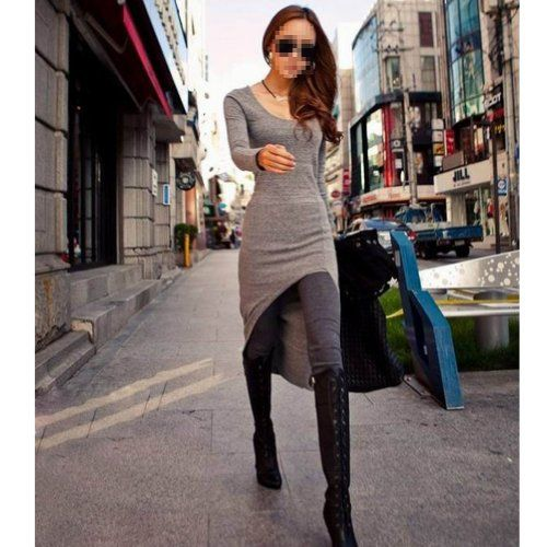 NEEWER® Women Slim Swallow Tail Skirt Irregular Long Sleeve Maxi Long Dress (Grey) Neewer,http://www.amazon.com/dp/B00G63Z76M/ref=cm_sw_r_pi_dp_EOogtb1EHVQ4JY9K