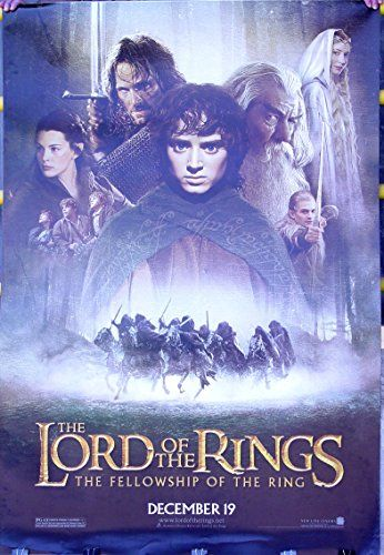 Lord of the Rings FOTR Movie Vinyl Poster Rare 48 x 70 inches @ niftywarehouse.com
