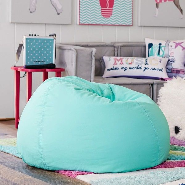 PB Teen Pool Suede Beanbag, Slipcover Only At Pottery Barn Teen   Bean...  ($79) ❤ Liked On Polyvore Featuring Home, Furniture, Chairs, Accent Chairs,  Blue, ...
