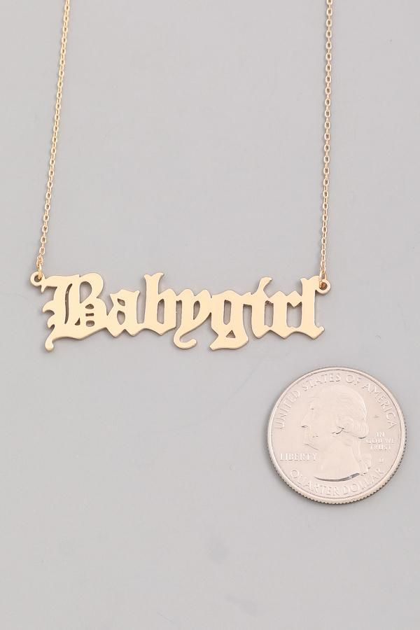 c5a56fc7299a8b Gold Babygirl Necklace in 2019 | Jewelry | Babygirl necklace, Gold ...