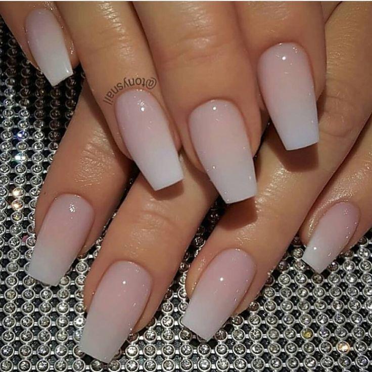 Medium long acrylic nails look noble  Acrylic  Length