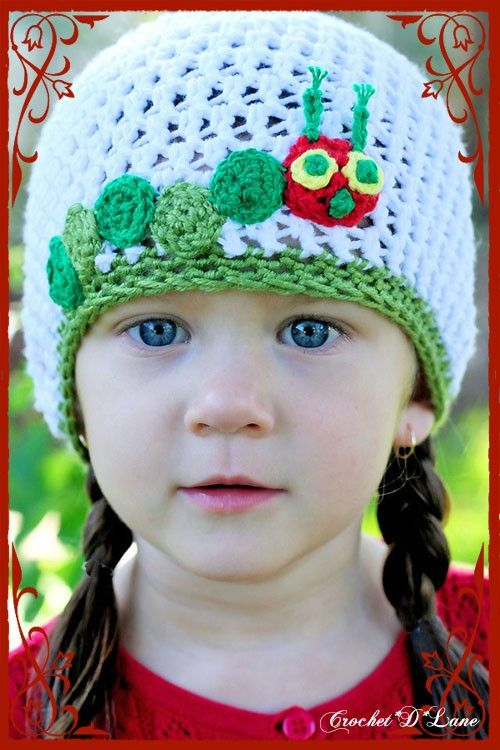 Very Hungry Caterpillar FREE hat pattern. SO CUTE!