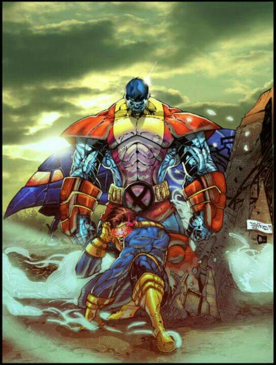 Cyclops and Colossus of the X-Men (Marvel Comics).