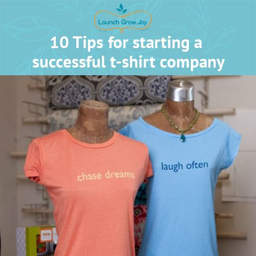 Are you thinking of starting a t-shirt company but are not sure where to start? Check out these 10 tips that will walk you, step-by-step, thorough the process.