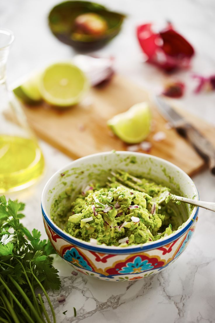 Mexican Guacamole. The perfect dip to serve with chips or add to tacos and burritos for Cinco de Mayo or your next fiesta party (Get the recipe here)!