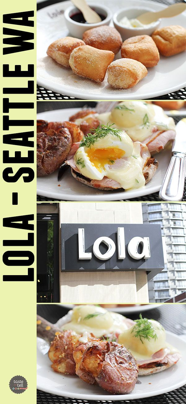 Lola by Tom Douglas - Seattle, Washington. Do not miss the eggs Benedict, the potatoes or the doughnuts!