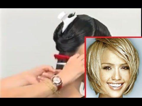 How To Have Hair Like Jessica Alba. French Haircut Tutorail parikmaxer tv engl - YouTube