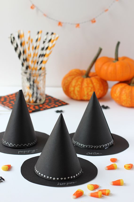 diy witchs hat halloween party favor - Halloween Party Decorations Diy