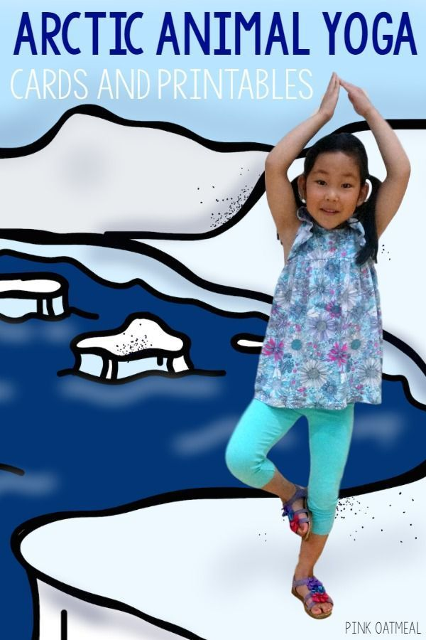 Winter Gross Motor.  Arctic Animal Themed Yoga!  This is the perfect activity for gross motor time, your Arctic Animal unit, or to use all winter!
