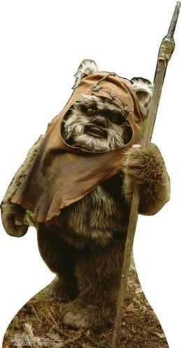 Wicket Ewok Star Wars Lifesize Cardboard Standup Standee Cutout Poster Figure | eBay