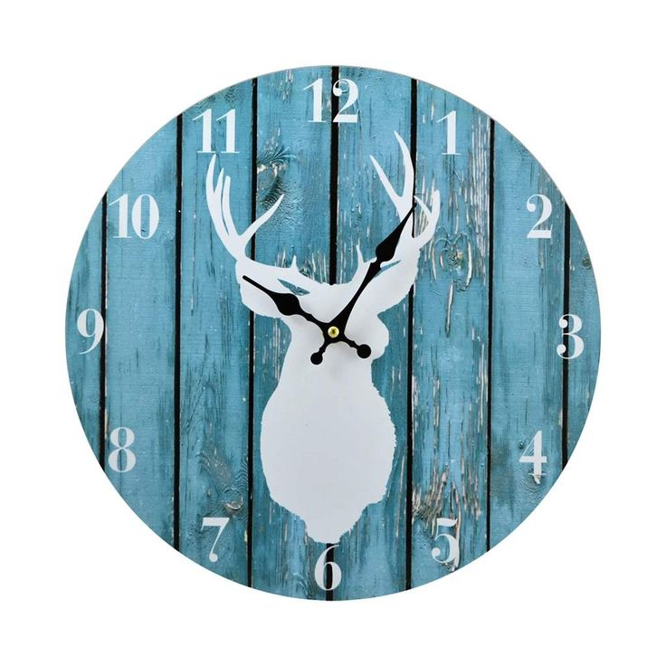 clock deer blue